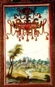 1 Sailly en 1609. Gravure tirée des albums de CharlesIII de Croÿ - Copie